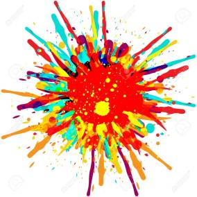 vector splatter color background design. illustration vector des