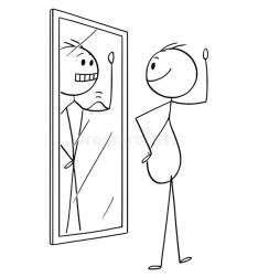 cartoon-fat-obese-overweight-man-looking-himself-mirror-seeing-yourself-thin-better-shape-cartoon-stick-129384731